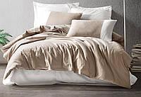 Комплект постільної білизни євро Cotton Box Plain Sport Vizon Krem, фото 1