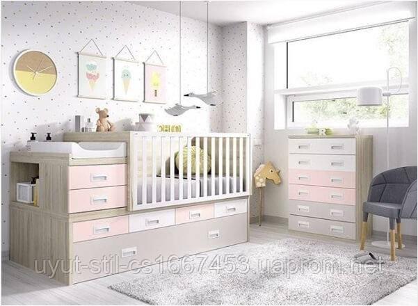 Детская кроватка для новорожденного с маятником ДМ 4114