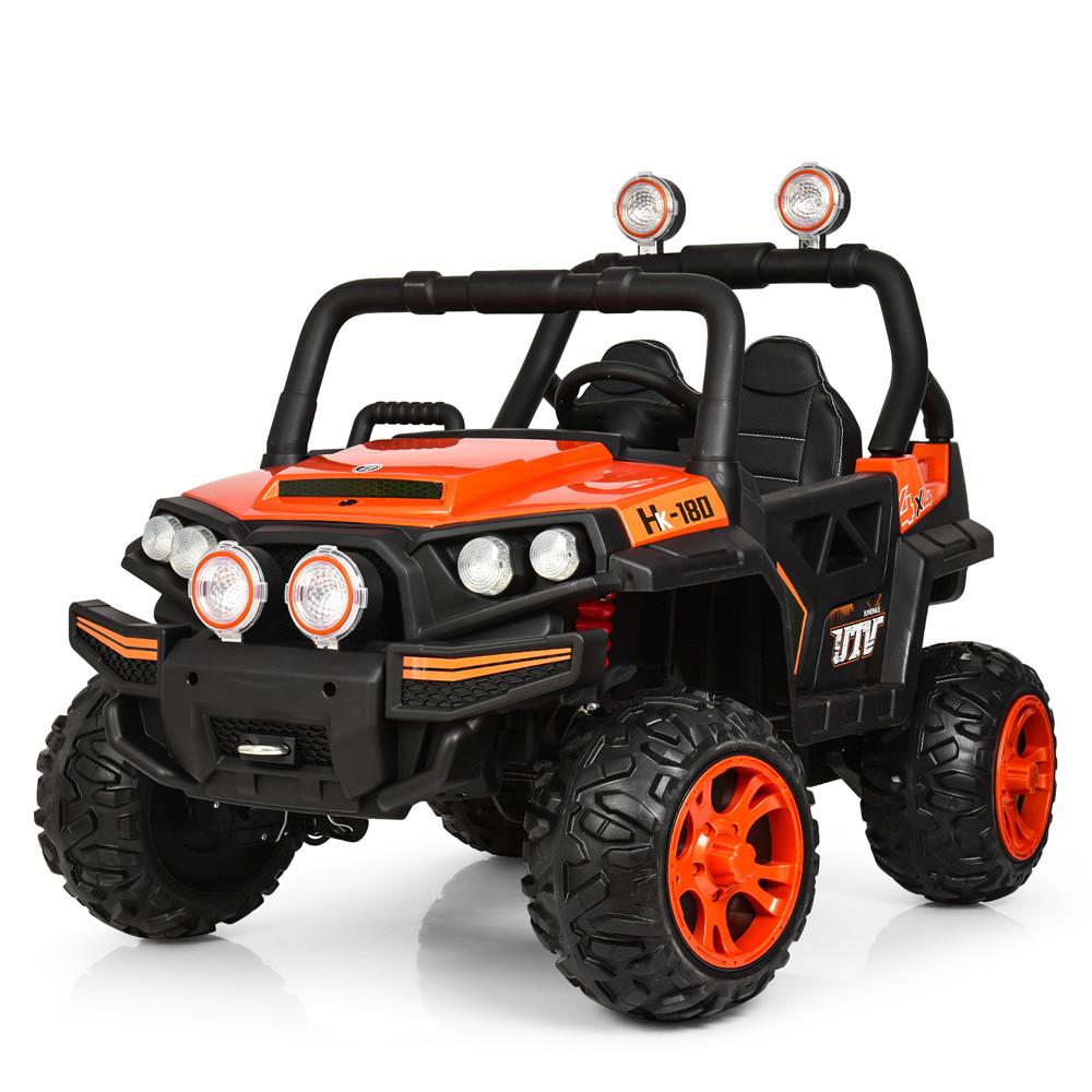Электромобиль Джип M 3825EBLR-7 оранжевый BAMBI