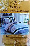 Комплект постельного белья ELWAY (Польша) Сатин евро (5074), фото 3