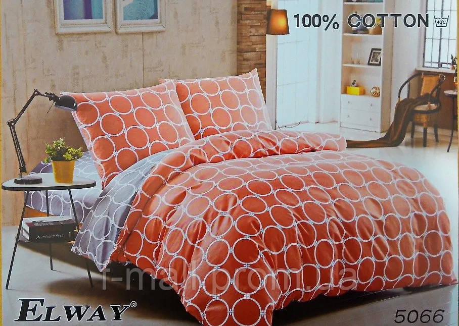 Комплект постельного белья ELWAY (Польша) Сатин евро (5066)
