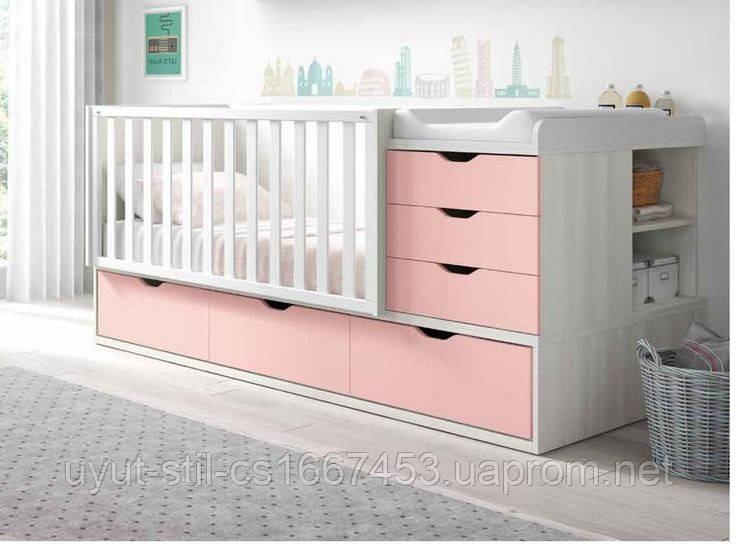 Детская комбо-кровать для новорожденных ДМ 504