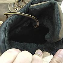 Коричневі Чоловічі Черевики шкіряні високі зимові на змійці теплі еко шкіра в стилі timberland чоботи чоловічі, фото 3