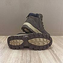 Коричневі Чоловічі Черевики шкіряні високі зимові на змійці теплі еко шкіра в стилі timberland чоботи чоловічі, фото 2
