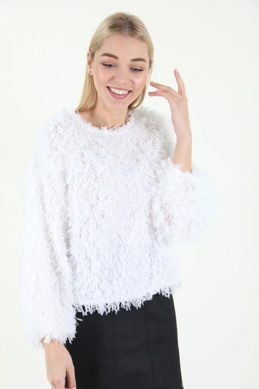 Кофта женская Fashion Girl 923 травка (Белый S/M)