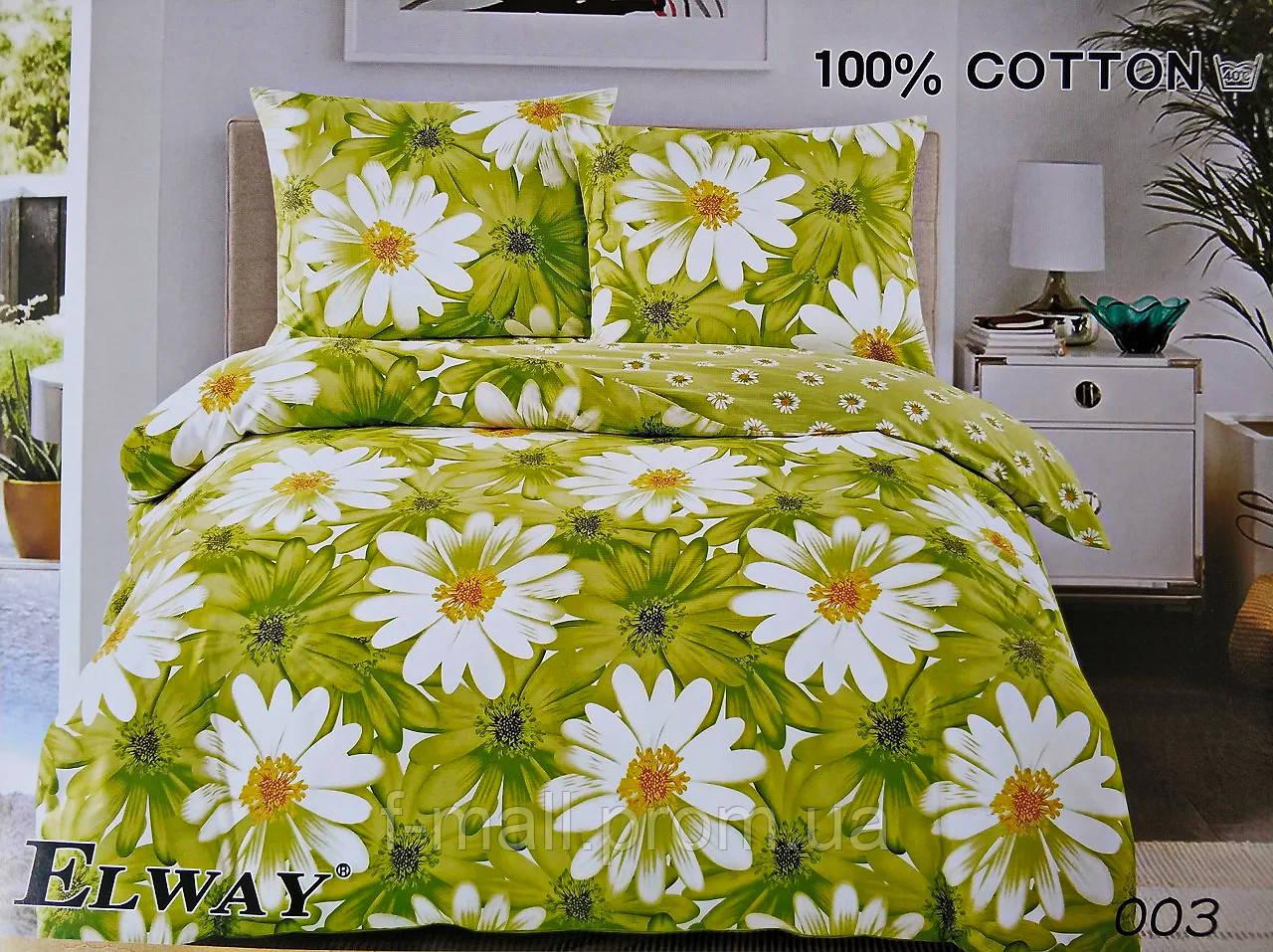 Комплект постельного белья ELWAY (Польша) Сатин евро (003)