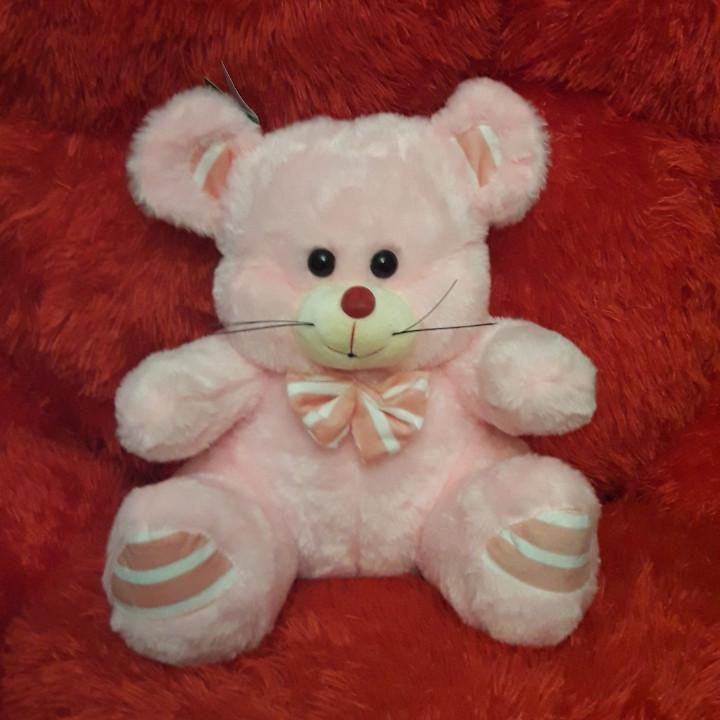Мягкая плюшевая игрушка 35см Мышка (розовая)1