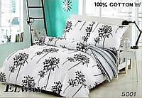 Комплект постельного белья ELWAY (Польша) Сатин евро (5001)
