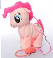 Май литл пони  на поводке (умеет ходить) Пинки Пай