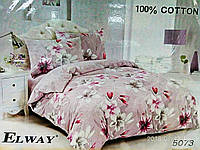 Комплект постельного белья ELWAY (Польша) Сатин евро (5073)