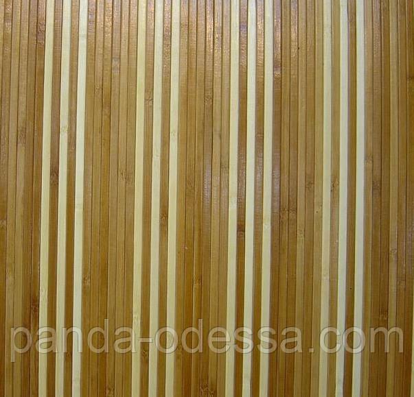 """В пределах отрезка 2.4 м.п / Бамбуковые обои """"Полосатые 6+1"""" п,8мм, высота рулона 0,9 м"""
