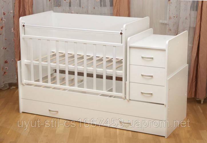 Кроватка детская для новорожденного ДМ 039