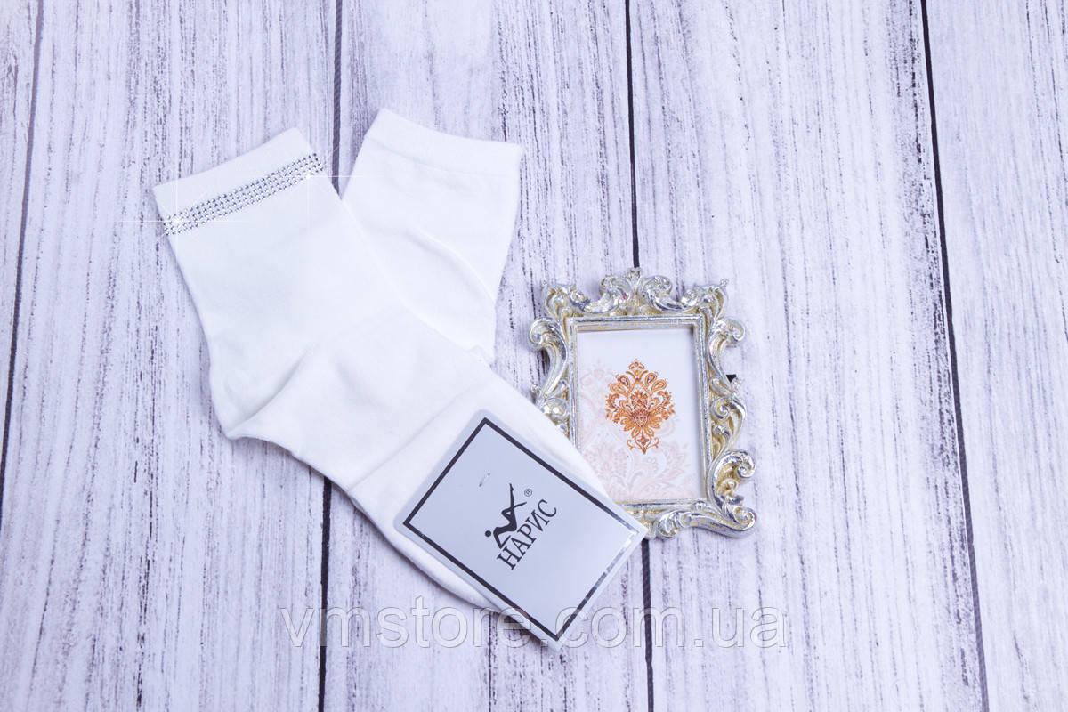 Носки женские белые со стразами