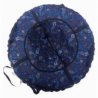 Тюб кольоровий Inki-blue, надувні санки, 100 см / Тюбинг Inki-blue (надувные санки, ватрушки, тобоганы), фото 1