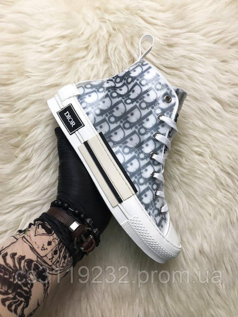 Мужские кроссовки Dior B23 High-Top Sneakers(белый)