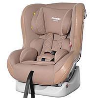 Автокресло детское с рождения до 4 лет бежевое с наклоном для сна Carrello Omega CRL-11806 Beige Lion