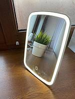 Косметическое зеркало для макияжа со светодиодной LED подсветкой Xiaomi Jordan&Judy (NV026) настольное Белый