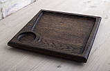 Квадратная тарелка с соусником 24х24 см, фото 3