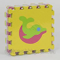"""Коврик-пазл EVA """"Животные"""" НКС 007 (80010) массажный, 9 эл. в упаковке, 30х30см"""