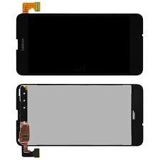 Nokia Lumia 630 дисплей в сборе с тачскрином модуль с рамкой черный
