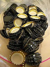 Кроненкорки для закупорювання пляшок 26 мм чорна