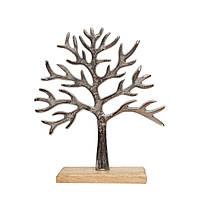 Дерево алюминиевое на подставке 25см 109455