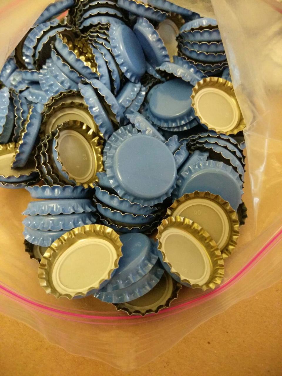 Кроненпробки  для укупорки бутылок 26 мм синяя