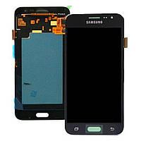 Дисплей модуль Samsung J320H/DS Galaxy J3 (2016) копія TFT, без регулювання яскравості, з тачскріном, чорний