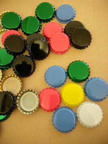 Кроненпробки  для укупорки бутылок 26 мм синяя, фото 2