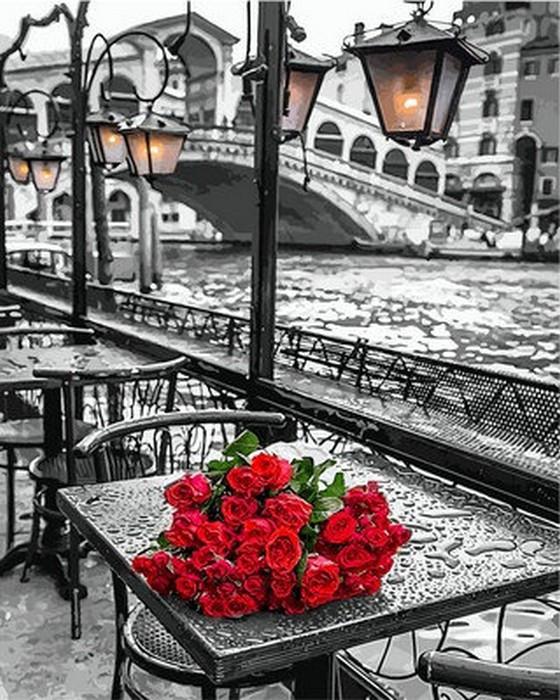 Картина по номерам 65х50см У моста Риальто в Венеции Babylon Turbo
