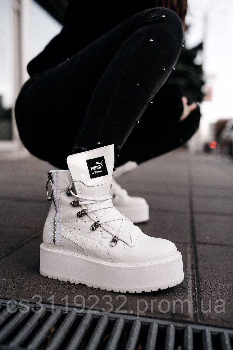 "Женские ботинки  Puma X Fenty by Rihanna Sneaker Boot ""White""демисезонные (белый)"