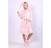 Халат для девочки теплый подростковый с сапожками, фото 1