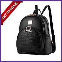 Стильный женский рюкзак черный. Женский городской рюкзак. Рюкзаки на каждый день. Модный рюкзак черный