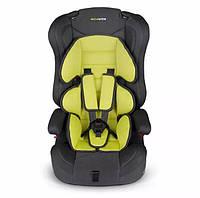 Детское автокресло для ребёнка, дитяче автокрісло Rickokids Elio 9 – 36 кг черное с салатовым