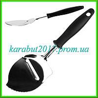 """Лопатка кухонная для нарезки сыра """"Капля"""" L24,5см ручка 15см ширина 7см"""