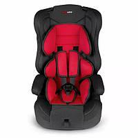 Детское автокресло для ребёнка, дитяче автокрісло Rickokids Elio 9 – 36 кг черное с красным