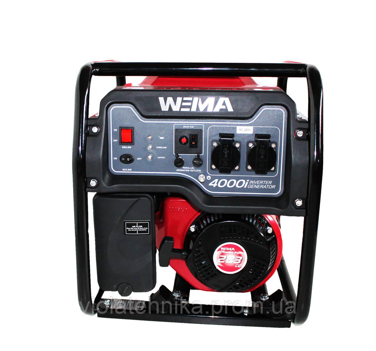 Генератор бензиновый инверторный WEIMA WM4000i (4 кВт, инверторный, 1 фаза, ручной старт)