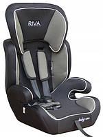 Детское автокресло для ребёнка, дитяче автокрісло Riva 9 – 36 кг черное с серым