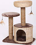 Когтеточка Croci Larix для кошек с домиком, 60х38х80 см, фото 2