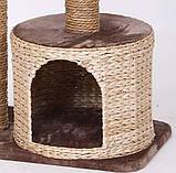 Когтеточка Croci Larix для кошек с домиком, 60х38х80 см, фото 4