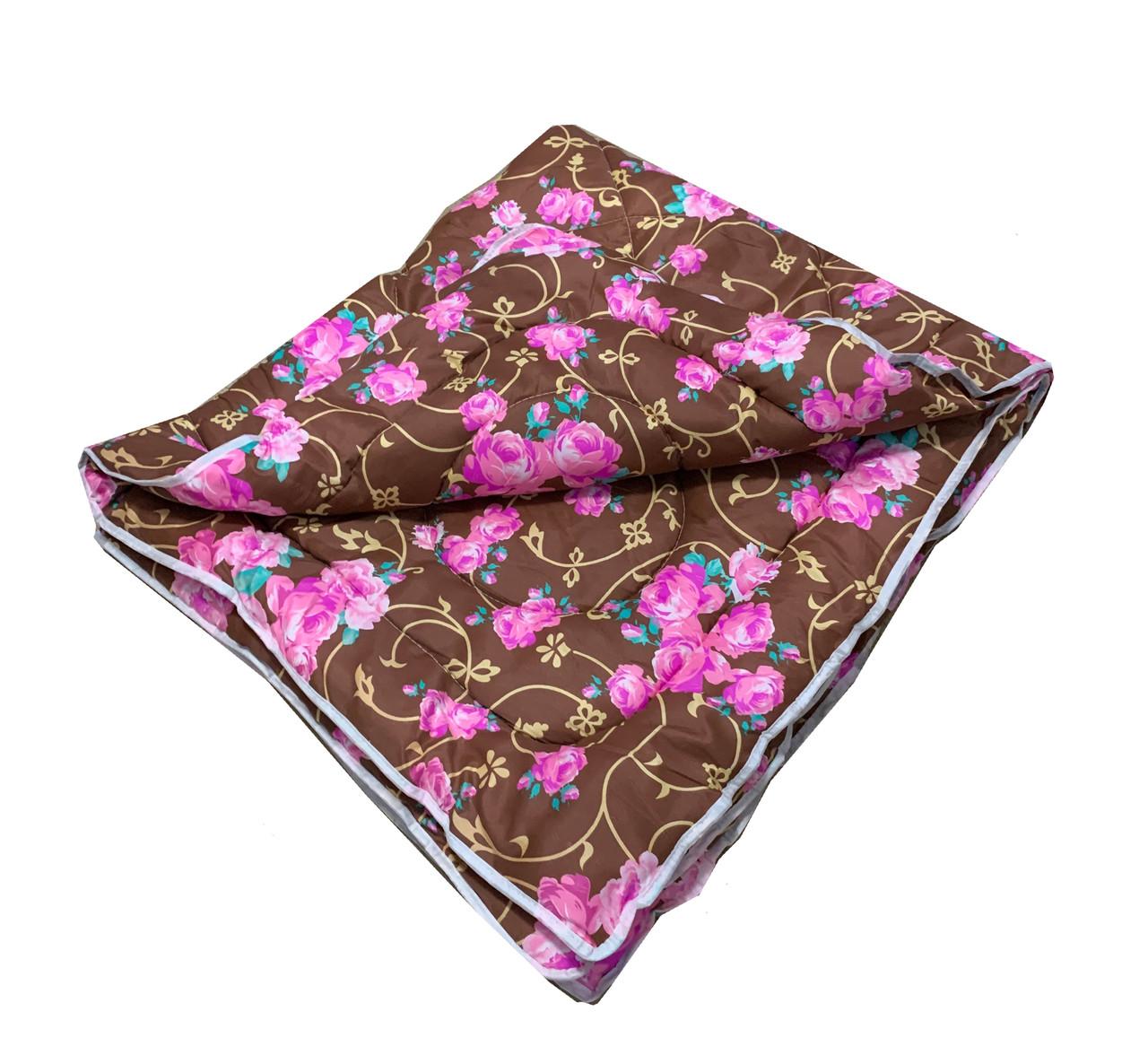 Одеяло коричневое полуторное, холлофайбер 150*220 см, Украина