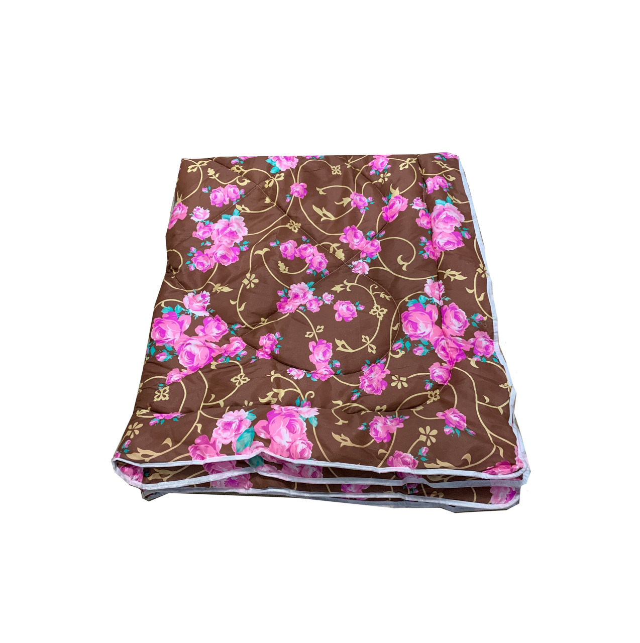 Одеяло коричневое двуспальное, холлофайбер 180*220 см, Украина