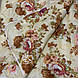 Одеяло бежевое полуторное, холлофайбер 150*220 см, Украина, фото 2