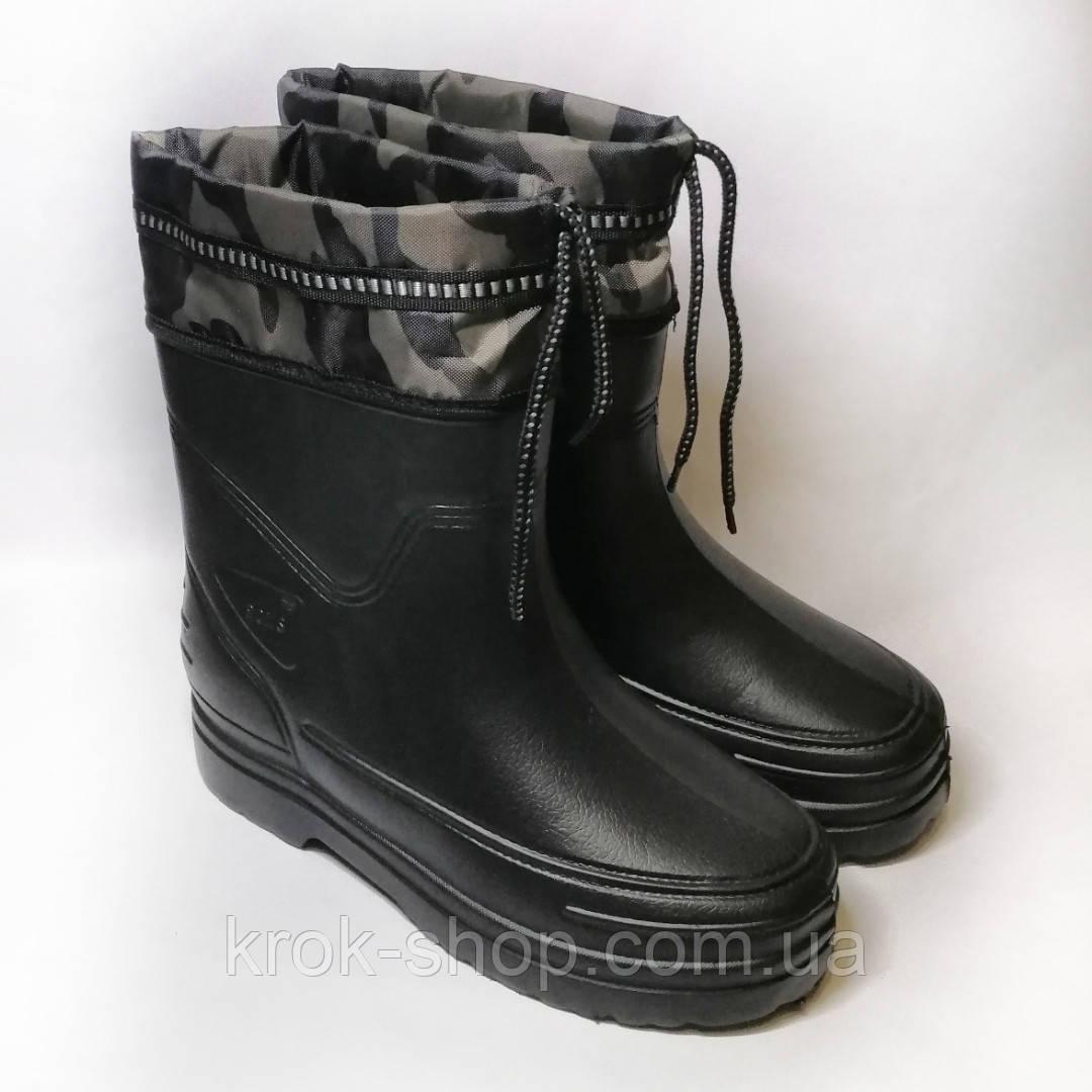 Боты мужские со вставкой на шнуровке Роксол оптом