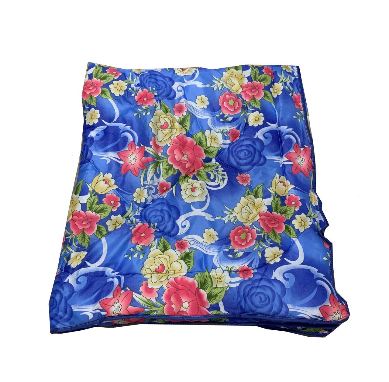Одеяло синее двуспальное, холлофайбер 180*220 см, Украина