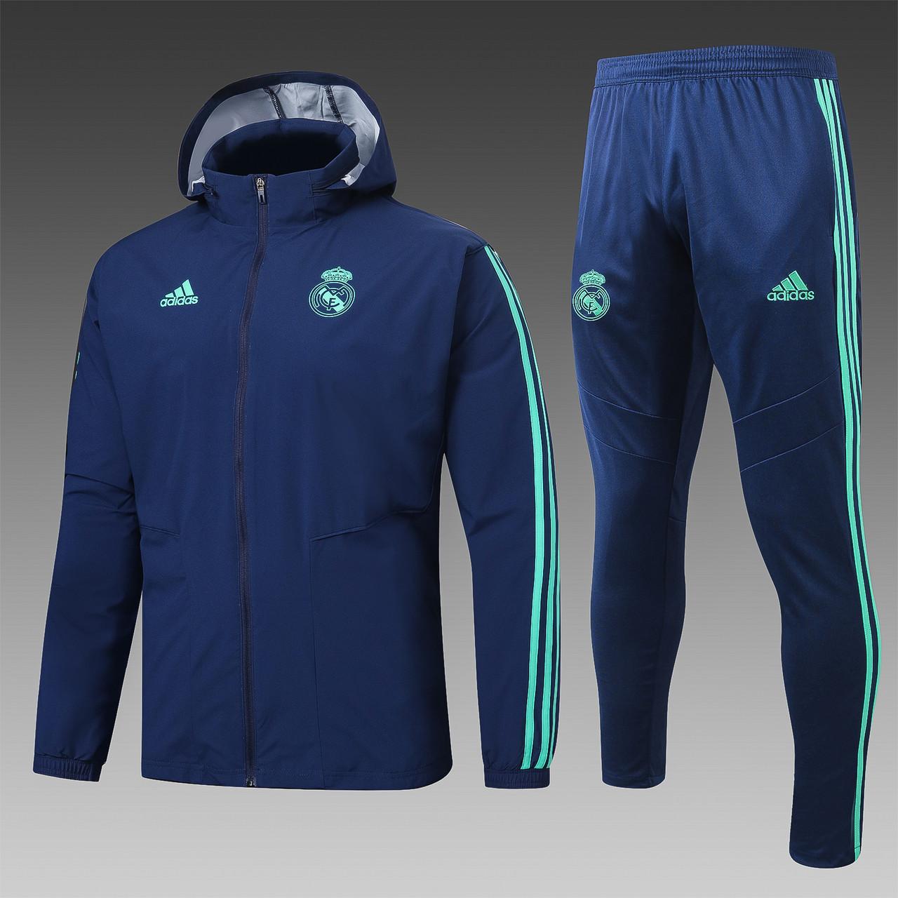 Спортивный тренировочный костюм Реал Мадрид  Real Madrid 19-20 (ветровка и штаны)