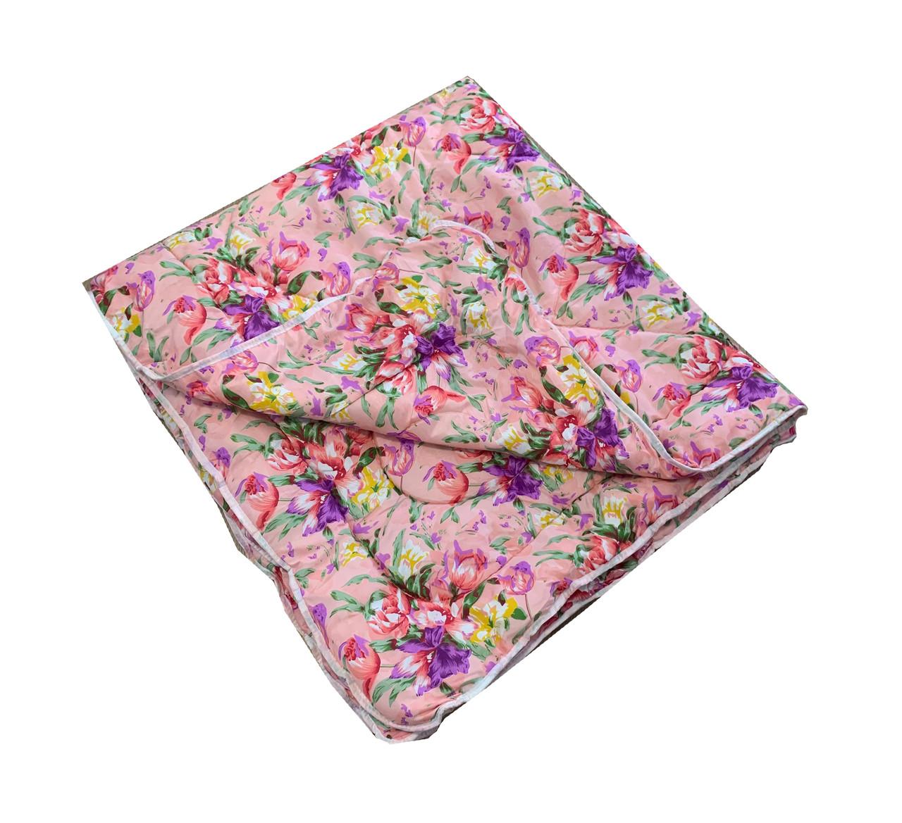 Одеяло розовое полуторное, холлофайбер 150*220 см, Украина