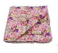 Одеяло розовое двуспальное, холлофайбер 180*220 см, Украина