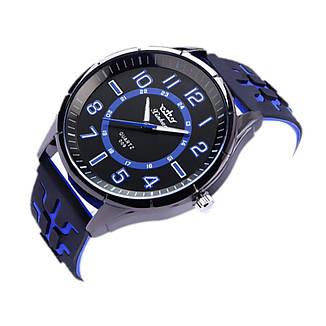 """Мужские наручные часы на силиконовом ремешке с большим циферблатом """"Xinhao"""" (синий), фото 2"""