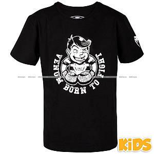 Детская футболка Venum Born to Fight T-shirt Black White